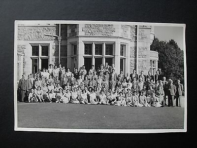 Staff & Guests at Treloyhan Manor Hotel St Ives Plain back Photo PC signatures