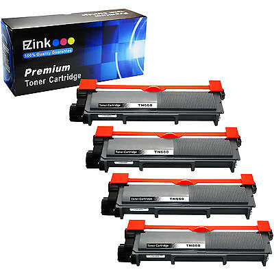 4 Pack TN-660 660 TN-630 630 High Yield Compatible Toner Cartridges for Brother