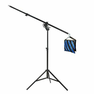Ex-Pro Heavy Duty Photo Studio 2in1 Combi Rotatable Boom Arm Light Stand Kit