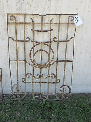 Antique Victorian Iron Gate Window Garden Fence Architectural Salvage Door #149