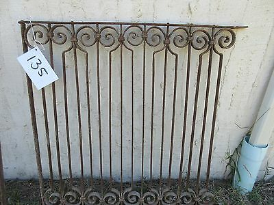 Antique Victorian Iron Gate Window Garden Fence Architectural Salvage Door #135