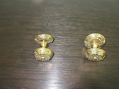 Vintage Solid Brass French Regency Louis XV Hardware Dresser Drawer Pulls E