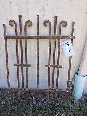 Antique Victorian Iron Gate Window Garden Fence Architectural Salvage Door #157
