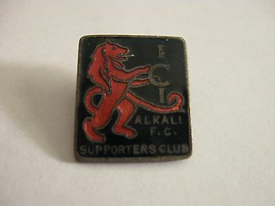 Rare Old Ici Alkali Football Supporters Club Enamel Brooch Pin Badge