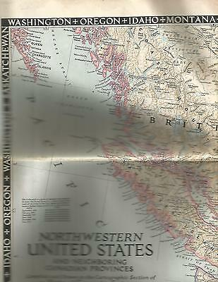 1950 Map of Northwestern United States and Neighboring Canadian Provinces