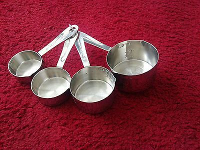4 Metal Measuring Cups ~ BRAND NEW