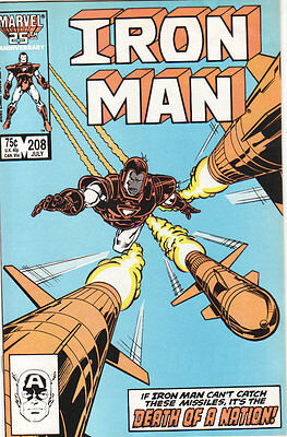 Iron Man #208  F+ Marvel 1986 Death of a Nation