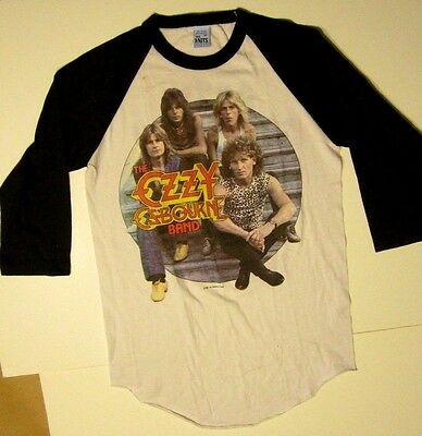 Ozzy Osbourne 1982 Tour Vintage Orignal Concert Jersey Shirt diary of madman