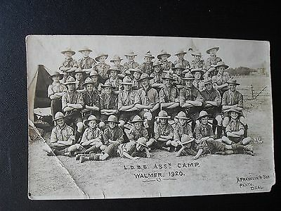 Boy Scouts Group Walmer 1920 LDBS Assn Camp Real Photo postcard N Franklin Deal