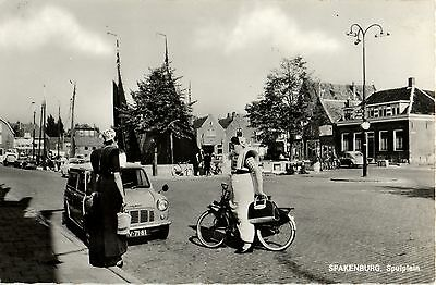 SOLEX moped motorcycle old Dutch real photo postcard Ca 1950's