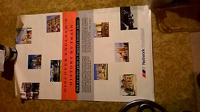 Very Rare Network SouthEast railway poster Discover England approx 26 x 42 inch