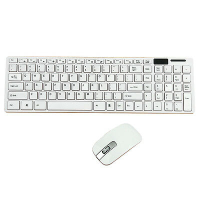 Slim Wireless 2.4GHz Gaming Keyboard Mouse Combo Set Kabellos Tastatur Maus DE