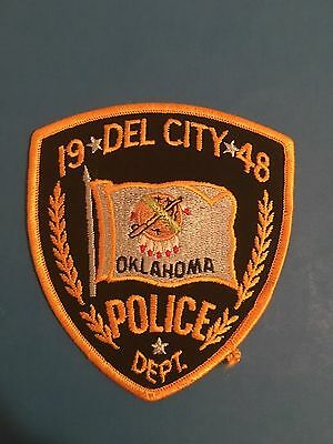 Del City Oklahoma Police Shoulder Patch   Used