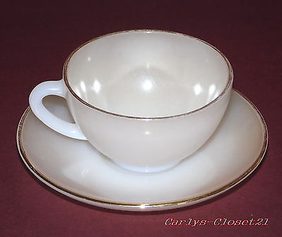 ARCOPAL France * Vintage Opalescent Cup & Saucer * Retro ~ French ~ Coffee *