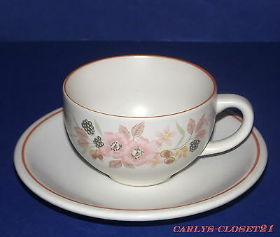 BOOTS HEDGE ROSE * Pottery Cup & Saucer *