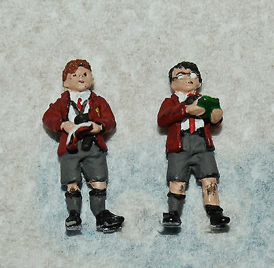 O Gauge Two Schoolboy Trainspotters  Nicely Painted