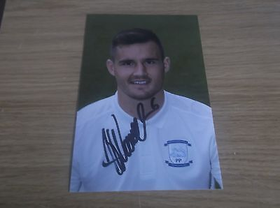 Preston North End fc Bailey Wright signed 6x4 action photo