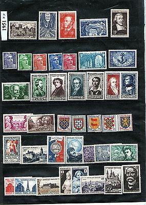 France 1951 - Timbres - Annee Complete - Neufs ** Sans Charnieres - Idee Cadeau
