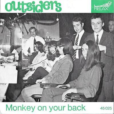 Dutch Beat Outsiders 45 Monkey On Your Back+Ps Holland Rare