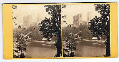 Stereoview By Gw Wilson - No 380 Durham Cathedral From The River