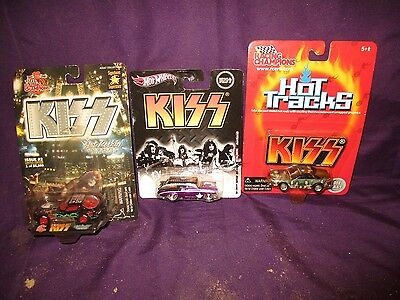 Lot of 3 KISS Hot Wheels! NIP