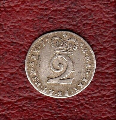 1732 Maundy Twopence Excellent Example