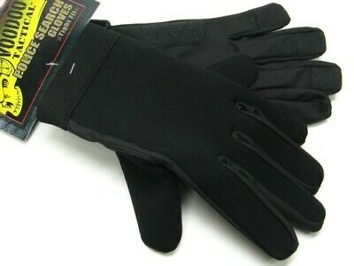 Voodoo Tactical Black Neoprene Police Search Gloves Size Small 01-663501092