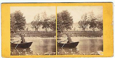 Stereoview By Gw Wilson - No 103 Abbotsford , From The River