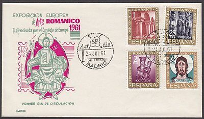 Spain, 1961 Romanesque Art Exhibition Illustrated FDC. Alonso Cachet. Madrid CDS