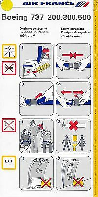 Air France - Boeing 737-200.300.500 - 12/1994 - Safety Card - Consignes Securite