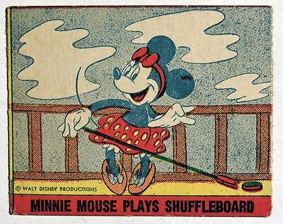 S422. VINTAGE: Mickey Mouse Bubble Gum MINNIE MOUSE Card from Gum, Inc. (1930s)[