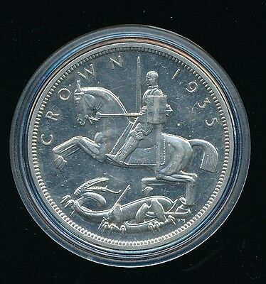 1935 George V - Silver RAISED EDGE PROOF CROWN..Superb....Fast Post