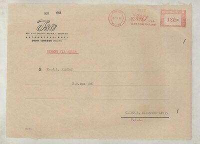 1968 ISO ORIGINAL EMPTY Factory Mailing Envelope INCOMPLETE ww3924