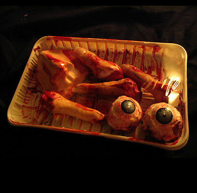 Lifesize Human Body Parts Eyeballs Fingers Nose Bloody Gory Halloween Party Prop