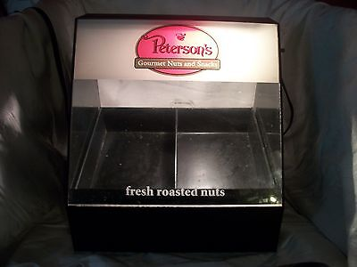 Petersons Roasted Nut Display  Countertop Store / Bar Display LIGHTED