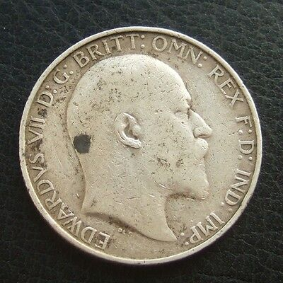1906 EDWARD VII FLORIN : 2 SHILLINGS : BRITISH .9250 STERLING SILVER COIN ..b91