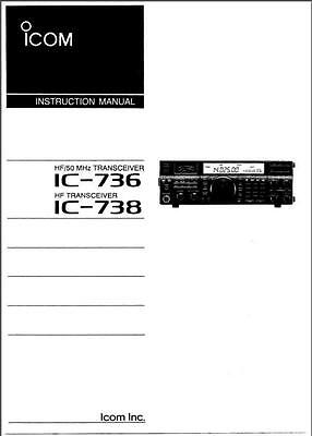 icom ic 736 ic 738 cd service owners manuals radio book cd 8 95 rh picclick com Example User Guide Example User Guide