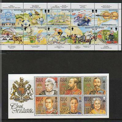 (A4)  Isle Of Man Selection Mini Sheets   Mnh  As Scans Collect Or Postage