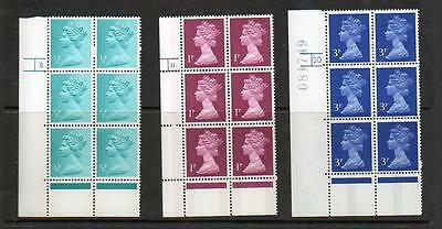 (A219) Eii Machin  Corner Blocks Of 6 Control Marks See Scans For Numbers Mnh