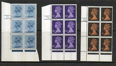 (A220) Eii Machin  Corner Blocks Of 6 Control Marks See Scans For Numbers Mnh
