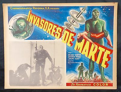 INVADERS FROM MARS Arthur Franz CLASSIC MONSTER 1953 SCIFI Mexican Lobby Card N