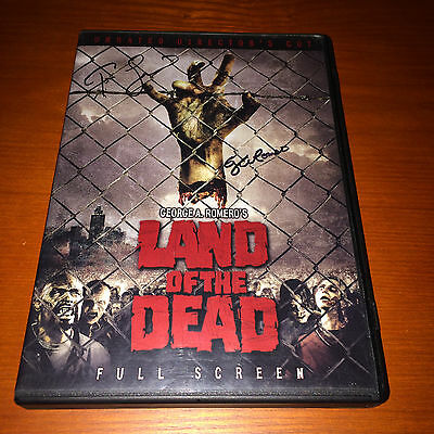 Land of the Dead Zombie Horror DVD George A Romero + Tom Savini SIGNED AUTOGRAPH