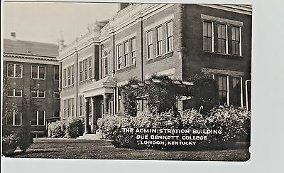 1940's RPPC The Ad. Building, Sue Bennett College in London, KY Kentucky PC