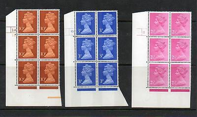 (A223) Eii Machin  Corner Blocks Of 6 Control Marks See Scans For Numbers Mnh