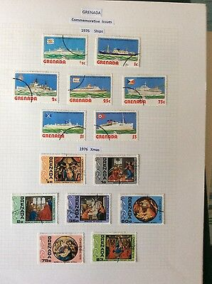 Stamps Grenada 1976  ships and Xmas sets. vfu.76