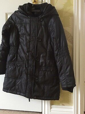 Excellent condition hooded black girls coat age 9-10 years from Marks & Spencer