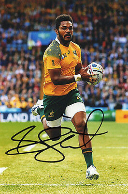 Henry Speight, Australia rugby union, Wallabies, signed 6x4 inch photo. COA.