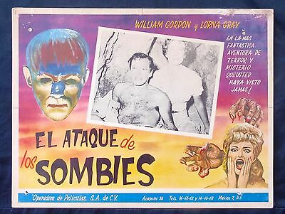 VALLEY OF THE ZOMBIES William Gordon Lorna Gray MEXICAN LOBBY CARD 1946