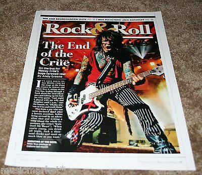 MOTLEY CRUE Rolling Stone Magazine Article Photo Clipping