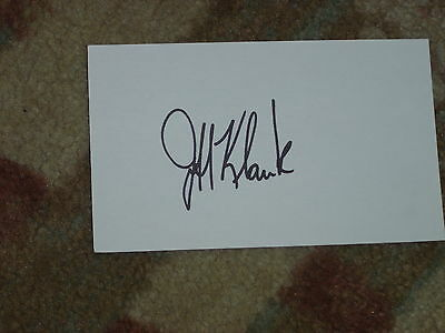 Jeff Klauk Signed 3x5 index Card